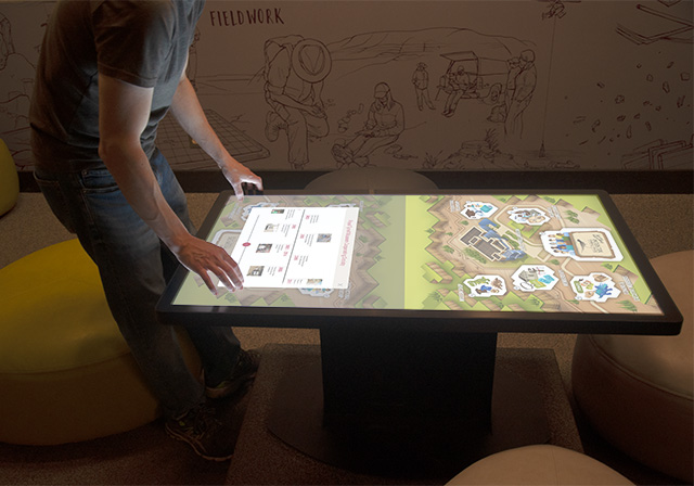 touch screen digital interactive exhibit - immersive digital interactive experience - media - interactive apps for museums - exhibits - galleries - interpretive centres