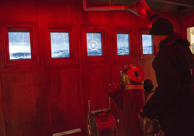 Naval Museum Wheelhouse Immersive AV Audio Visual Video